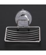 Bathroom Wall Mounted Soap Holder Shower Suction Stainless Steel Dish Tr... - $14.47