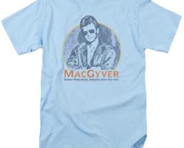 MacGyver Retro 80's adventure action TV series blue graphic t-shirt CBS1640 image 2