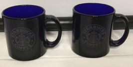StarBucks Vintage Clear Cobalt Blue 12oz Cup Mug Cup - $49.45