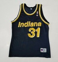 Champion Indiana Pacers Reggie Miller Basketball Jersey Mens 44 Blue NBA - $49.99