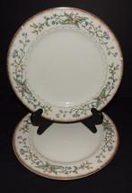2 Wellesley Farberware #486 Dinner Plates Katherine Babanovsky 96 Green ... - $29.69