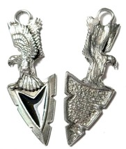 Eagle Arrowhead Fine Pewter Pendant Approx. 2 1/4 inches tall image 2