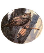 Vintage Great Horned Owl Wall Plate, Majestic Birds Series - $14.99