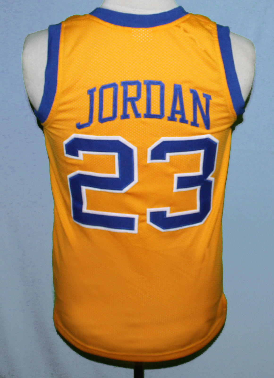 f47a1d9467d9fd MICHAEL JORDAN  23 LANEY HIGH SCHOOL JERSEY AUTHORIZED YELLOW SEWN NEW ANY  SIZE