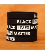 Set of XL 9 inch BLACK Lives Matter Wristband Bracelets Silicone Wrist B... - $5.82+