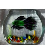 Art Glass Dichroic Fused Fish Bowl Trinket Jewelry Tray Plate Artist Sig... - $42.70