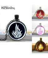 HZShinling Dauntless Sign Of Divergent Necklace Round Glass Pendant Jewe... - $6.87