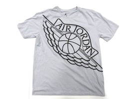 f57506a99cc1 Air Jordan Dri-Fit Basketball Grey Graphic T-Shirt Adult Size Large -  29.65