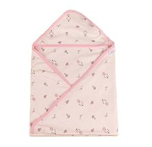 Lovely Cartoon Series Soft Baby Girl Hooded Bath Towel, Pink (7777CM)