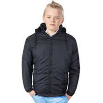 Nathan Boy's Kids Junior Water Resistant Fleece Lined Jacket With Removable Hood