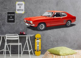 3D Ford Capri P79 Car Wallpaper Mural Poster Transport Wall Stickers Zoe - $32.35+