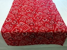 BANDANA COWBOY LINENS -Table Runner, Napkins, or Tablecloth, Red,  Cow p... - $14.00