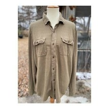 Lucky Brand Men's Long Sleeve Shirt Tan Button Up Sz L - $38.61