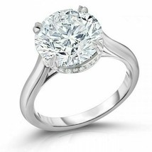 Certified 5.25Ct Huge Round Diamond Solitaire Engagement Ring 14k White ... - $273.74