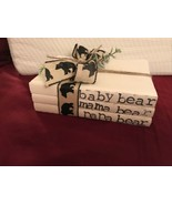 STAMPED BOOKS PAPA BEAR MAMA BEAR BABY BEAR  WITH BEAR RIBBON - $24.74