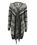 American Rag, Women's, Fringe Open Front Cardigan Sweater, Gray, Sz. Small - $935,21 MXN