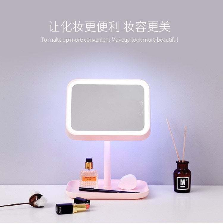 Primary image for Stylish Unique Combination Lighted Makeup mirror and lamp