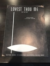 Lovest Thou Me Sheet Music - $14.43