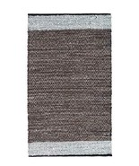Handmade Contemporary Premium Vintage Recycled Leather Area Rug, 2 X 3 F... - $24.95