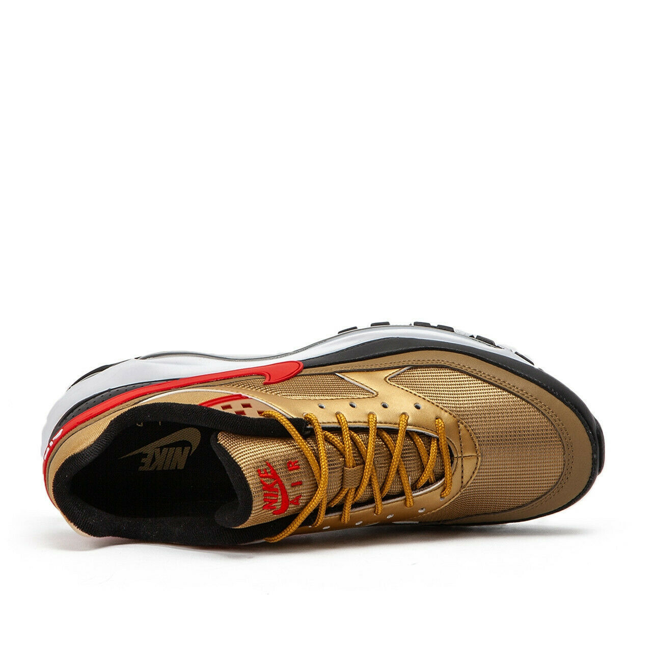 Nike Air Max 97 BW Metallic Gold Red Trainers image 10