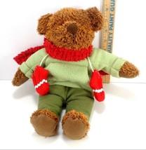 Hallmark Plush Stuffed Animal Christmas Teddy Bear Holiday Scarf Mittens... - $11.57