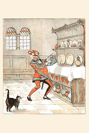 Primary image for The Knave of Hearts he stole the tarts from the cupboard by Randolph Caldecott -
