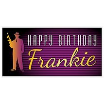Retro 30's Gangster Birthday Banner Personalized Party Backdrop - $23.64