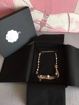 100% AUTHENTIC CHANEL CC LOGO MULTI CHAIN PEARL LONG NECKLACE GOLD LIMITED EDITI image 1
