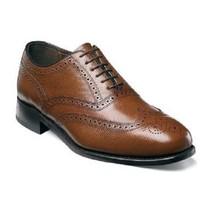 Florsheim Mens Shoes  Lexington Wingtip Soft Leather 17066-221 Cognac  - $115.00