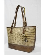 NWT Brahmin Medium Asher Leather Tote/Shoulder Bag Barley Bronte - Beige Brown