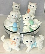6 porcelain cats by Homco 1428,1413,1410 - $37.62