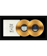 """Pink Floyd """"The Wall"""" 17 x 34 Framed 24kt Gold Double Album with Album C... - $309.95"""