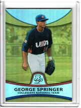 2010 Bowman Platinum George Springer Gold Refractor /539 - $19.80