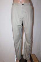 TOMMY HILFIGER Men's 42 x 32 (Actual 41x32) Khaki Pleated Pants Chinos EUC - $28.05