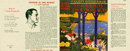 Fitzgerald Tender Is The Night Facsimile Polvere Copertura per 1st ed / ... - $22.54