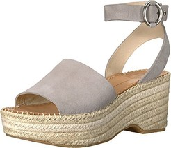 Dolce Vita Women's Lesly Espadrille Wedge Sandal, Grey Suede, 8.5 M US - $37.18