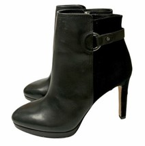 Antonio Melani Womens 8.5 M Ankle Boots Booties Black Leather High Heel Zip - $59.39