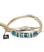 "3 NEW Moon Face 12"" Hemp Bracelets Anklets wrist jewelry - $8.99"