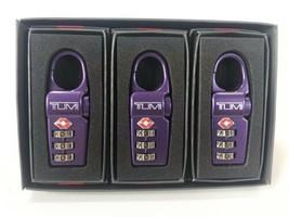 Tumi TSA Approved Combination Luggage Lock Set of 3, Purple - $89.09