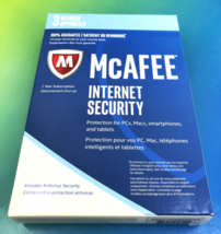 McAfee Internet Security 1 year PCs, Macs, iOS & Androids NEW 3 Devices ... - $4.07