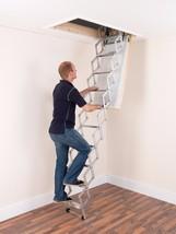 Concertina Loft Ladder - Compact Aluminium Attic Loft Ladder - Max Load ... - $305.76+