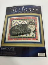 Lesley Anne Ivory's Cats Counted Cross Stitch Kit Gemma on a Dhurrie New - $29.69