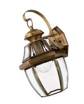 Quoizel Newbury 14-in H Antique Brass Medium Base (E-26) Outdoor Wall Light - $74.93