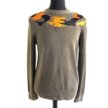 R-694336 New Givenchy Khaki Embroidered Knitted Sweater Size L - $289.99