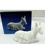 "Vintage Avon Nativity Donkey Animal Porcelain Figurine  3"" x 4""  White 1984 - $19.79"