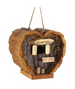Outdoor Birdhouse, Love Shack Bluejay Finch Modern Small Dove Birdhouse - $16.69