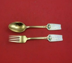 Christmas by A. Michelsen Sterling Silver Fork and Spoon Set 2pc 1949 Ad... - $256.41