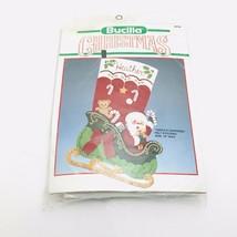Bucilla Stocking Kit Santa's Surprises Christmas 1990 Felt 82729 VTG NEW - $34.65