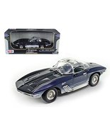 1961 Chevrolet Corvette Mako Shark Blue 1/18 Car Model Motormax - $59.27