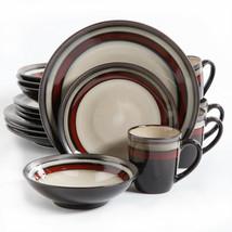 Gibson Elite Lewisville 16 Piece Dinnerware Set, Red, Dishwasher Safe - $45.99